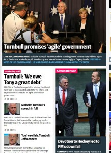 The front page of the  Daily Telegraph gives one a general sense of the mood...